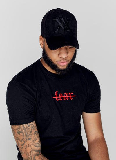 """NO FEAR"" BLK/RED TEE"