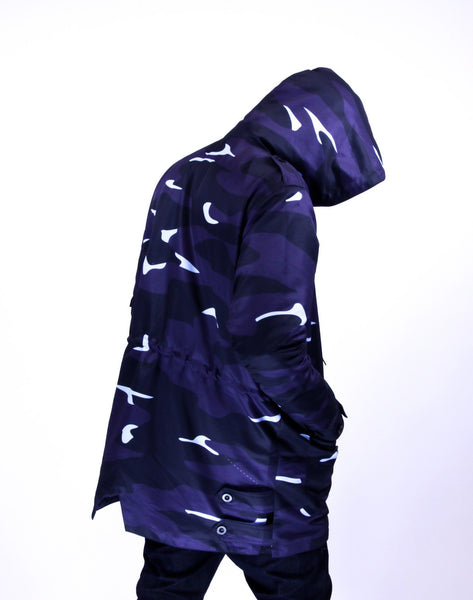 ALMVGHTY Camo Jacket - Blue - Back