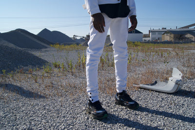 """SAVED"" DENIM JEANS (White)"