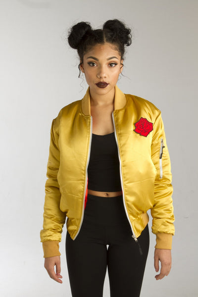 ALMVGHTY Mustard Rose From The Concrete Bomber - Front, Open