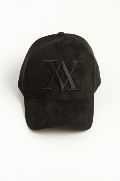 ALMVGHTY Embroidered Suede Dad Hat - Black