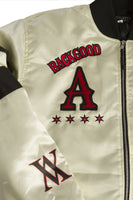 BHM Bomber Jacket With Patches - Letterman Patch And X Logo Close-Up