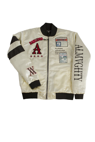 ALMVGHTY BHM Bomber Jacket With Patches - Front