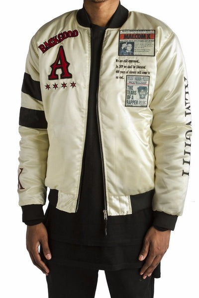 ALMVGHTY Bomber Jacket With Patches - Handmade
