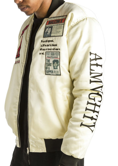 ALMVGHTY BHM Bomber Jacket With Patches - Left