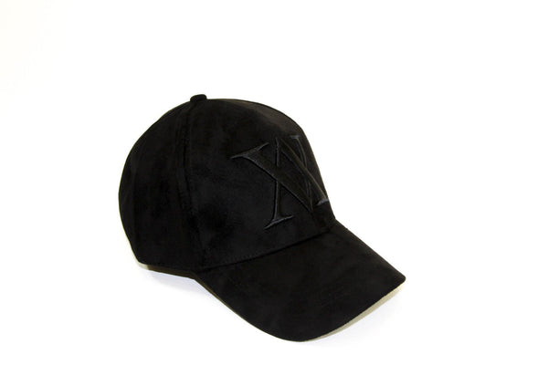 ALMVGHTY Embroidered Suede Dad Hat - Black - Right
