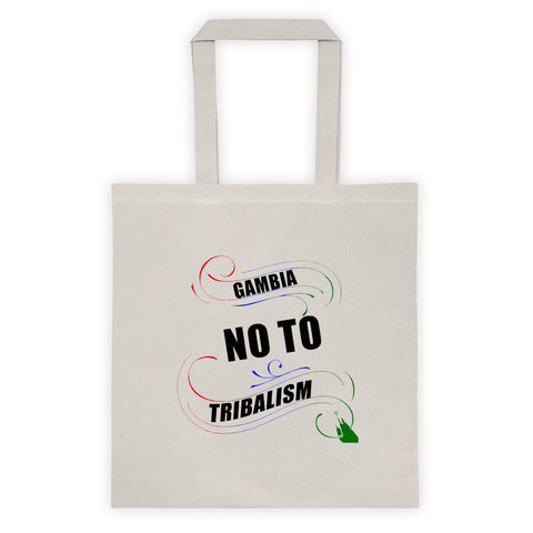 No To Tribalism Tote bag