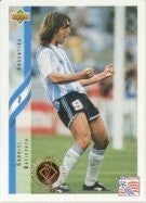 Gabriel Batistuta 1994 World Cup Heroes Card