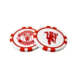 2 Pack Manchester United Poker Golf Ball Marker
