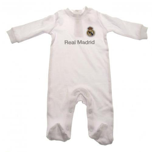 Real Madrid Authentic Baby Sleepsuit