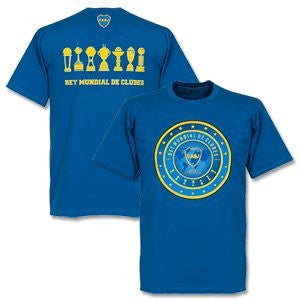 Boca Juniors Official Tee - Rey Del Mundo blue