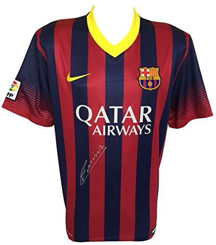 Andres Iniesta Signed Barcelona FC Nike Blank Jersey PSA
