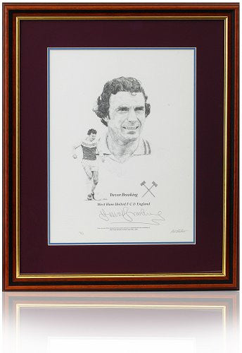 Sir Trevor Brooking Hand Signed West Ham United Art Print