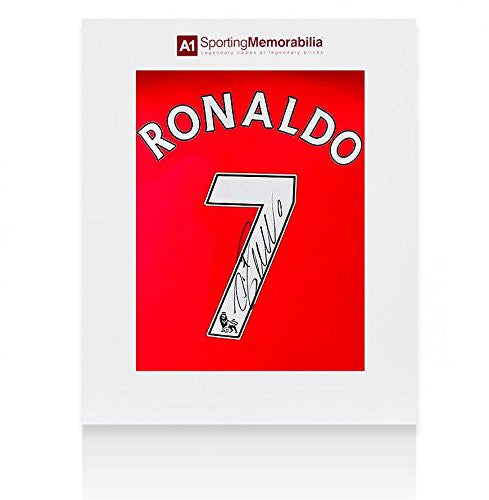 Cristiano Ronaldo Signed Manchester United Shirt - Number 7 - Gift Box - Autographed Soccer Jerseys