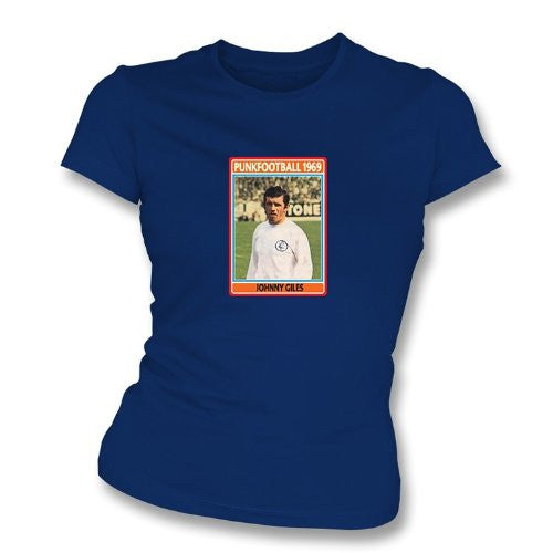Johnny Giles 1969 Leeds United Navy Women's Slimfit T-Shirt