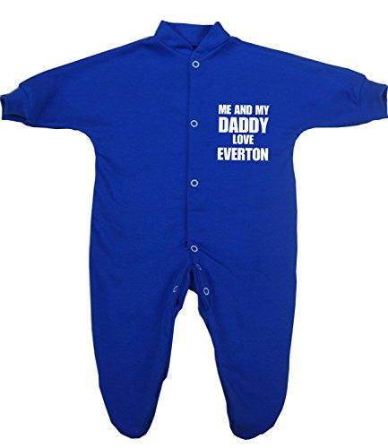 'Me and my Dad Love Everton' Baby Sleepsuit