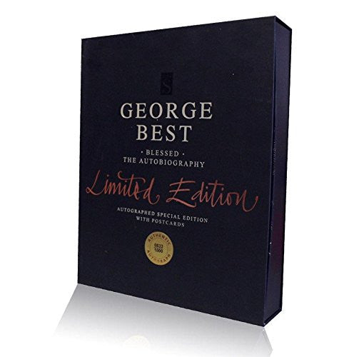 George Best hand signed Limited Edition Autobiography - Blessed Autograph
