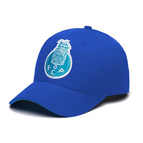 F.C. Porto Adjustable Snapback Team Color Curved Bill Soccer Hat, One Size, Blue