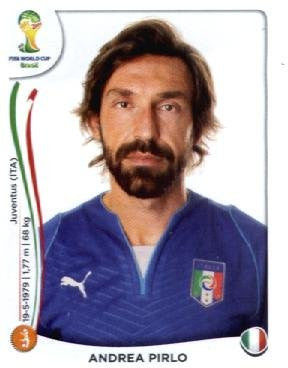 Andrea Pirlo 2014 Panini World Cup Soccer Sticker