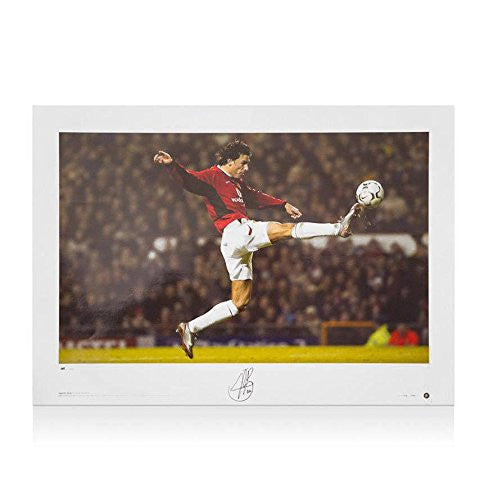 Ruud Van Nistelrooy Signed Photo - Leaping Kick