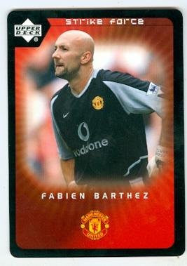 Fabien Barthez trading card 2003 Upper Deck Strike Force #39