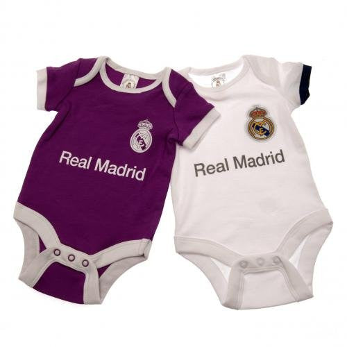 Real Madrid - 2 Pack Baby Onesies