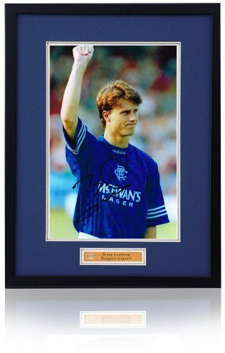"Brian Laudrup hand signed 12x8"" Rangers F.C. photograph."