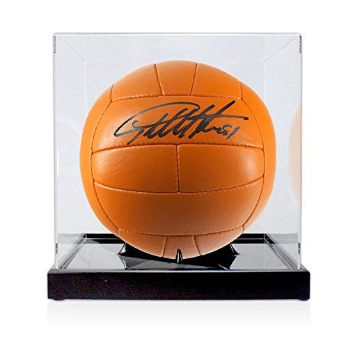 Sir Geoff Hurst Signed Football In Display Case