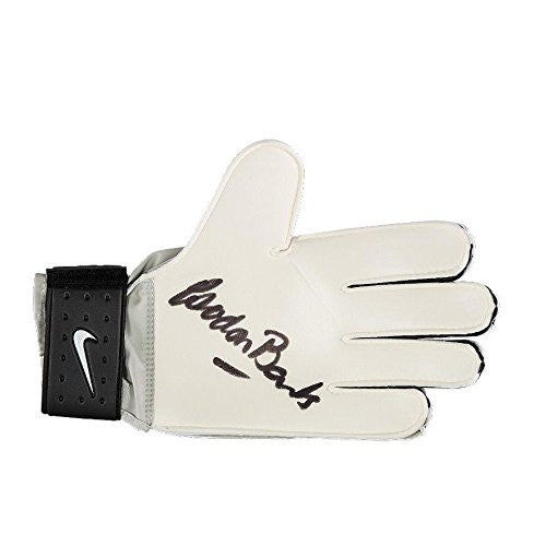 Gordon Banks Signed Goalkeeper Glove - Nike Grey Autograph - Autographed Soccer Equipment