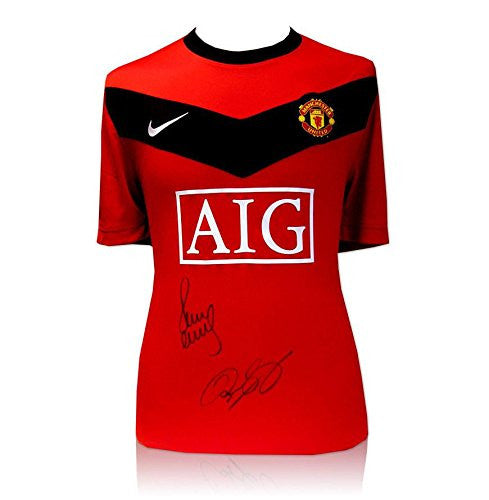 Ryan Giggs & Paul Scholes dual signed Manchester United Shirt Autograph