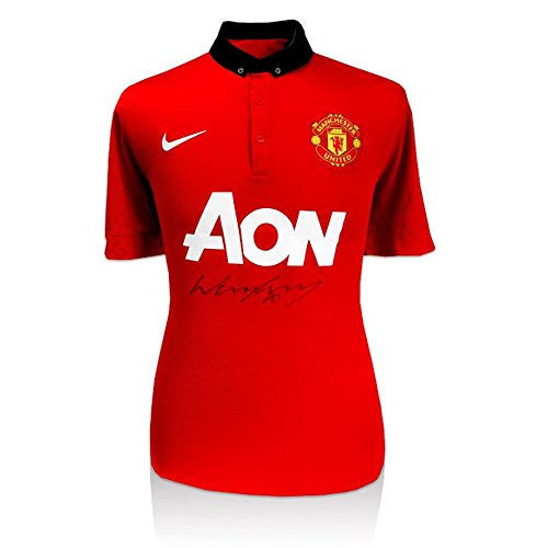 Wayne Rooney Signed Manchester United Shirt - 2013-2014 Front Autographed