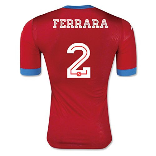 #2 Ferrara Red 2nd Away Adult Soccer Jersey 2015 - 2016