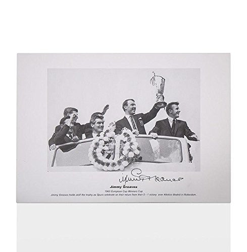 Jimmy Greaves signed print - 1963 European Cup Winners' Cup Autograph - Autographed Soccer Photos