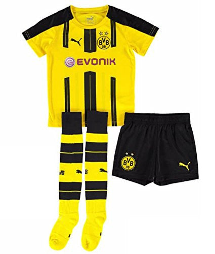 2016-2017 Borussia Dortmund Home Little Boys Mini Kit