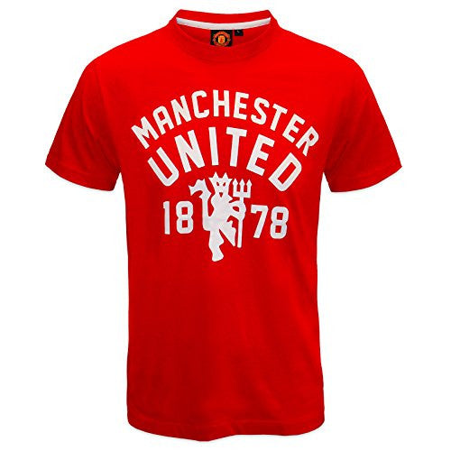 Manchester United Football Club Official Soccer Gift Mens T-Shirt Red Medium