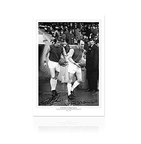 Sir Geoff Hurst and Jimmy Greaves signed print - Prolific Pair Autograph