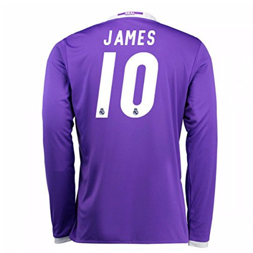 2016-17 Real Madrid Away Longsleeve Shirt (James 10)