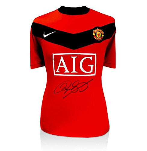 Ryan Giggs Signed Jersey - Shirt 2009 2010 - Autographed Soccer Jerseys