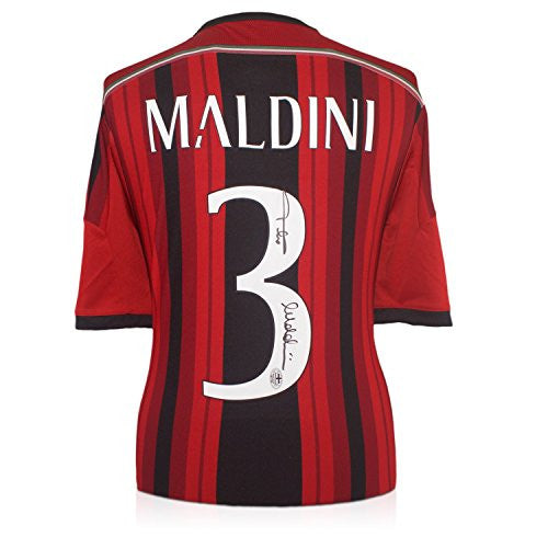 Paolo Maldini Signed AC Milan Soccer Jersey