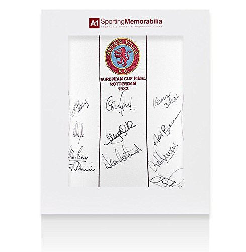 Aston Villa Signed Shirt 1982 European Cup Final - Gift Box Autograph Jersey