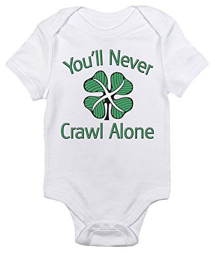 Celtic FC 'You'll Never Crawl' One-piece Baby Bodysuit