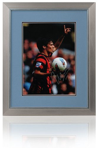 "David Silva Manchester City Hand Signed Framed 16x12"" Photograph"