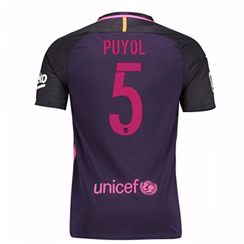 2016-17 Barcelona With Sponsor Away Shirt (Puyol 5)