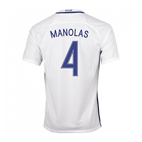 2016-17 Greece Home Shirt (Manolas 4)