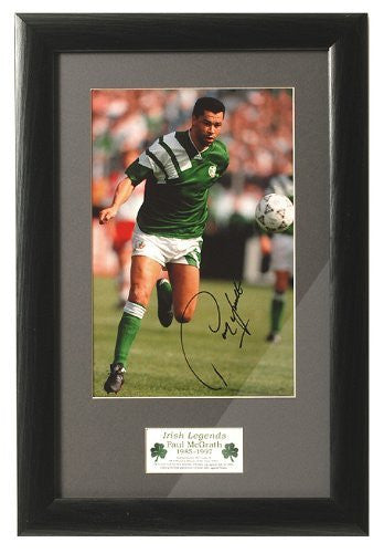Paul McGrath Hand Signed Photograph