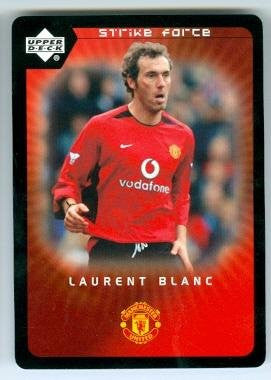 Laurent Blanc trading card (Manchester United FC Soccer France) 2003 Upper Deck Strike Force #88