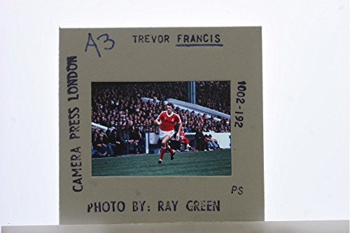 Slides photo of Trevor Francis playing in the field.