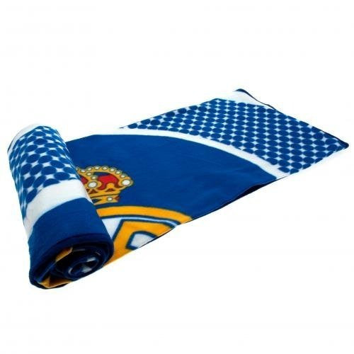 Real Madrid 'Bullseye' 100% Polyester Fleece Blanket Throw
