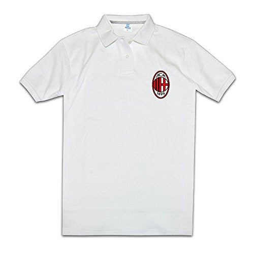 AC Milan I Rossoneri Il Diavolo Men's White Polo