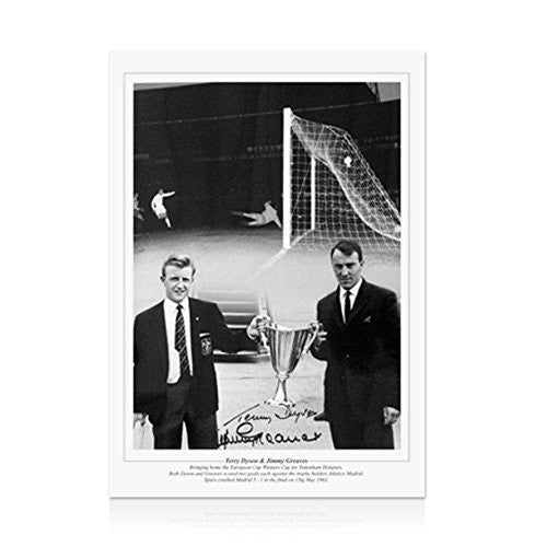 Jimmy Greaves and Terry Dyson signed Spurs print - Cup Holders Autograph
